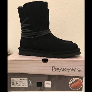 BearPaw Shirley Boot, black, size 7